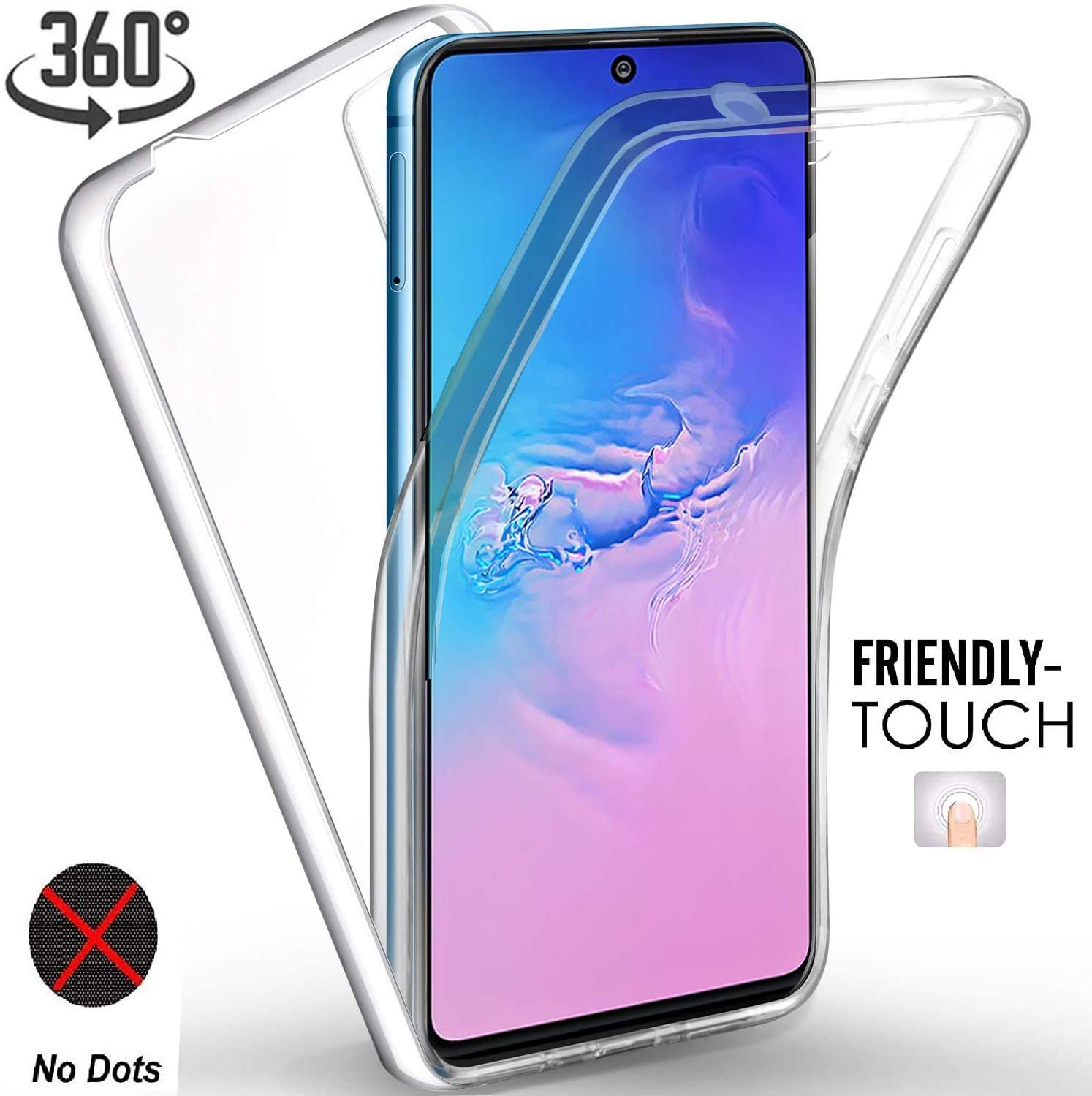 360 Full Body Case For Samsung Galaxy A51 A31 M21 A01 A20S A30S A50 S20 Ultra Note 10 Lite S10 Plus S9 Silicone TPU Double Clear