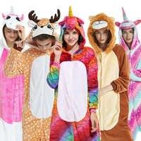 Flanela kingurumi adulto animal pijamas unicórnio pijamas feminino cosplay kigurumi pijamas totoro ponto onsie homewear pijamas