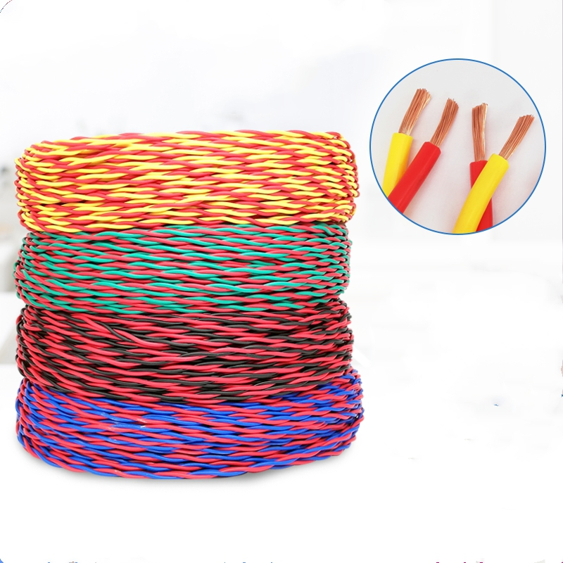 100 meters RVS cable 20AWG 18AWG 17AWG 15AWG 13AWG 11AWG pure copper core soft wire twisted pair 2 core wire