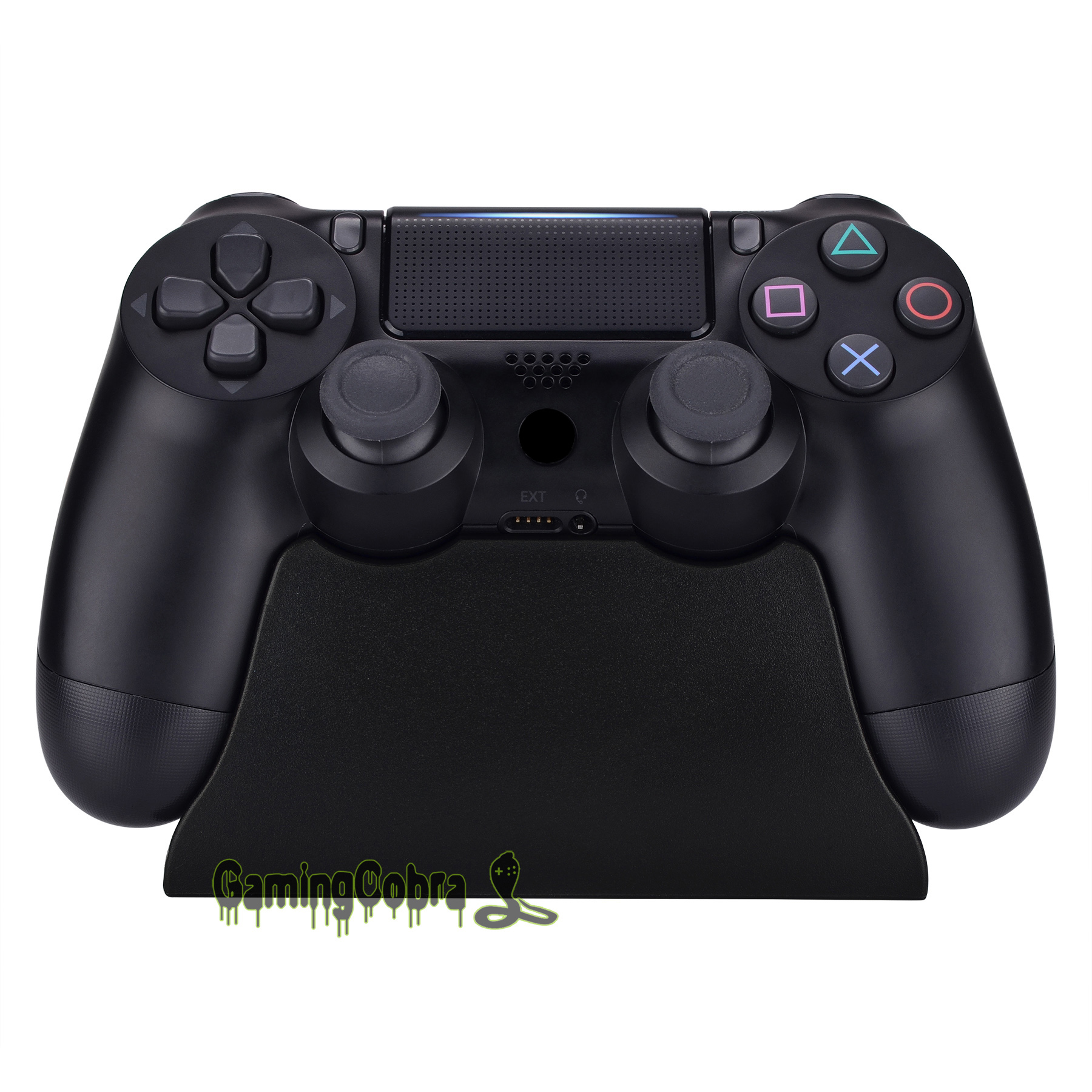 Solid Black Controller Display Stand Gamepad Desk Holder For PlayStation 4 PS4 Slim PS4 Pro Controller With Rubber Pads