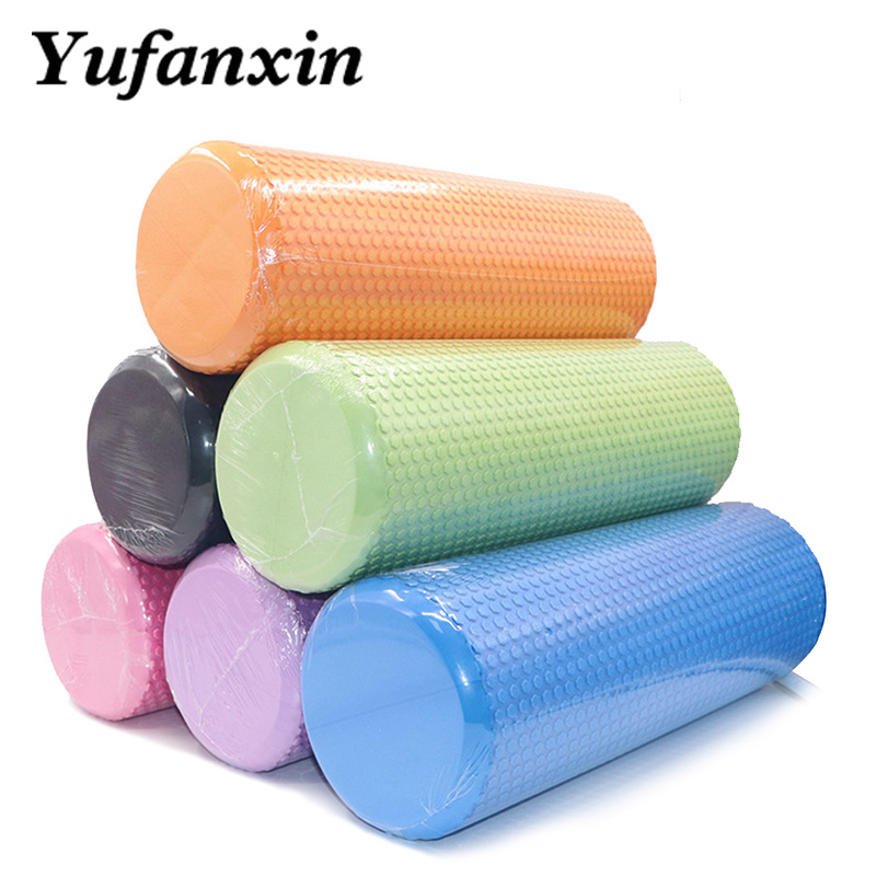 Floating Point Yoga Column Fitness Pilates Yoga Foam  Roller Fitness Muscle Massage Roller Yoga Brick Muscle Massage Column45cm