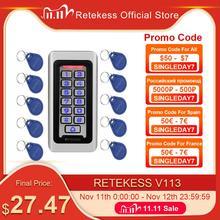 RETEKESS T AC03 Rfid kapı erişim kontrol sistemi IP68 su geçirmez Metal tuş takımı anahtar kartı bağımsız 2000 kullanıcı