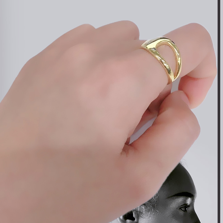 Luxury Brand Fancy  Silver Color  Hollow Chains Rings for Women Antique Rings Wedding Jewelry Valentines Gifts 2