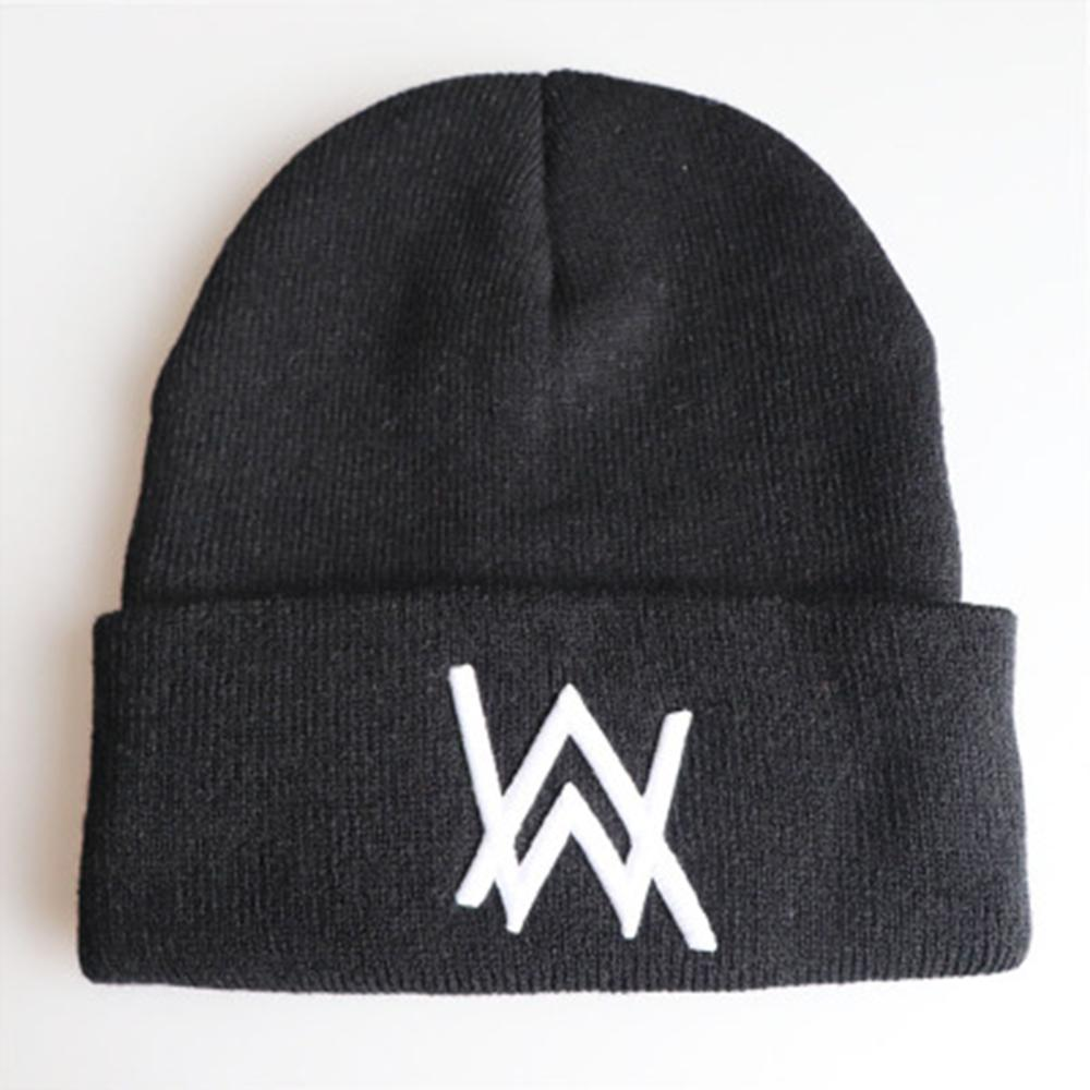 Fashion Alan Walker Embroidery   Beanie   Hats Women Men Cool Winter Warm Ski Hat Pop Unisex Hip Hop Caps Knit AW   Skullies   Bonnet