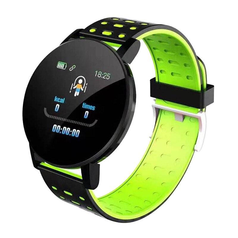 119 Plus Sports Smart Bracelet Watch Heart Rate Smart Wristband Waterproof Watches Band Smartwatch
