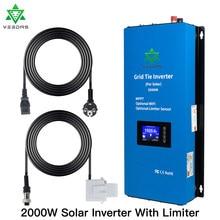 2000w microinver mppt no inversor solar do regulador do conversor do laço da grade inverte micro com sensor 45-90vdc do limitador para o painel solar