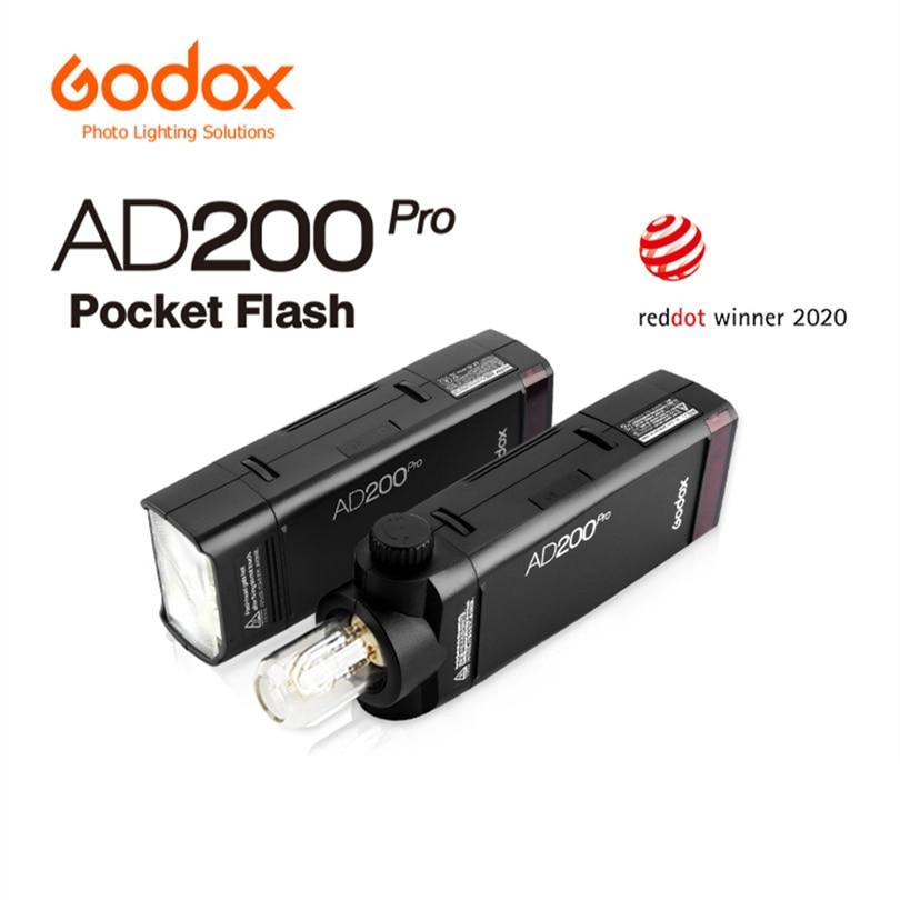 Godox AD200Pro TTL HSS 2.4G Outdoor Pocket Flash Kit LED Light For DSLR Camera Photo Photograph studio Speedlight Youtube TikTok