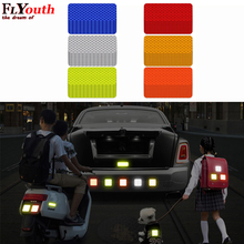 Decals Reflector-Stickers Strip-Tape Car Bumper Warning Secure Toyota for 3x8cm 10pcs
