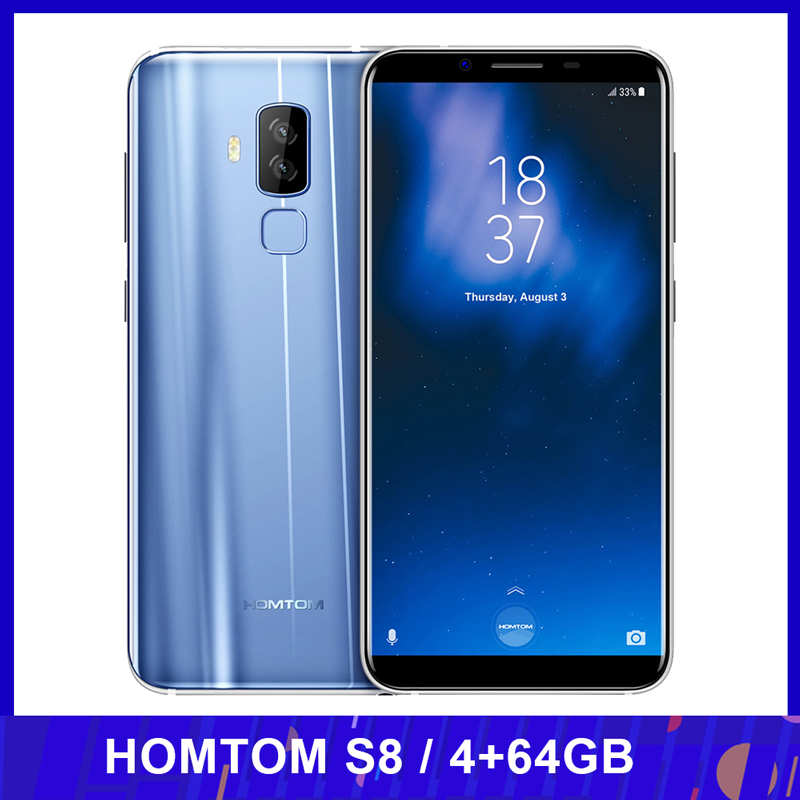 HOMTOM S8 Smartphone 16,0 MP + 13,0 MP 5,7 zoll Schnelle Ladung 4G FDD-LTE MTK6750T Octa-core Android 7,0 4GB + 64GB 3400mAh Handy