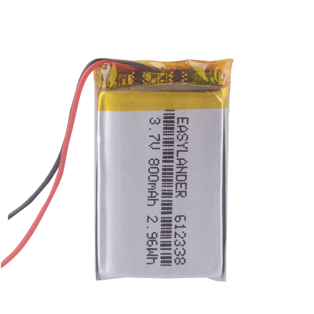 612338 3.7V 800Mah Oplaadbare Batterij Voor Speelgoed Gierst Gps Texet FHD 570 Dvr 3gp Gmini HD50G HD70G Ibox Pro 800 602338