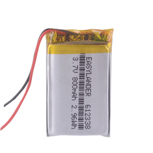 612338 3.7V 800mAh Rechargeable  Battery For Toys Millet GPS TEXET FHD 570   dvr 3gp Gmini HD50G HD70G iBox Pro 800 602338