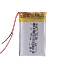 612338 de 3,7 V 800mAh batería recargable para juguetes mijo GPS TEXET FHD 570 dvr 3gp Gmini HD50G HD70G iBox Pro 800. 602338