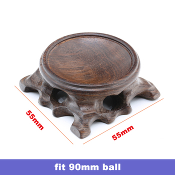 Wood Display Stand for Crystal Glass Lens Ball Large Divination Photography Lensball Base 40 60 80 100mm Big Magic Sphere Holder 9