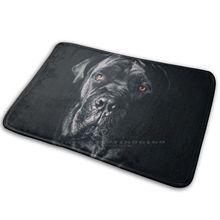 Тростниковый коврик для собаки, коврик для итальянского мастиффа, нескользящий коврик для входной двери в спальню, черный и белый цвет, трос...