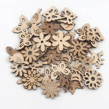 20 Pcs Vlinder/Vogel/Bloem Patroon Handgemaakte Houten Ambachten Accessoire Home Decoratie Scrapbookings Diy