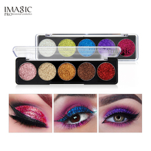 IMAGIC Glitter Eye Shadow Bright Rainbow EyeShadows Cosmetic Make up Pressed Glitters Diamond Waterproof Eyeshadows