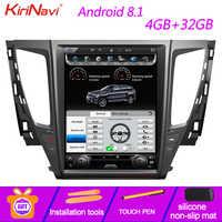 KiriNavi de pantalla Vertical Tesla estilo 12,1 Multimedia para coche Mitsubishi Pajero Sport Montero Android 8,1 Radio de navegación GPS