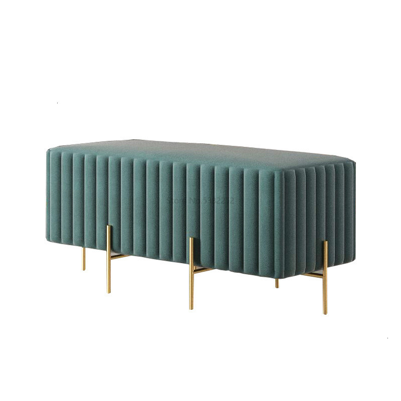 Change Shoes Stool Fabric Sofa Footstool Door Home Wearing Shoes Living Room Bench Bench Bed Tail Small Short Stool