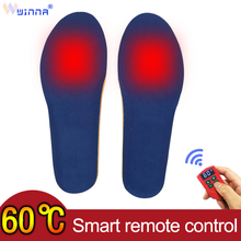 2000mAH Electrically Heated Insoles Men Women Winter Keep Warm Foot Shoes Heating Insoles Increased Sneaker Insole Cut To Fit недорого
