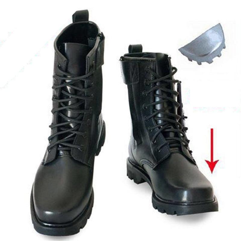 Steel Toe Microfiber Leather Men Military Boots Men's Motorcycle Riding Hunting Walking Shoes Designer Desert Botas Hombre Black