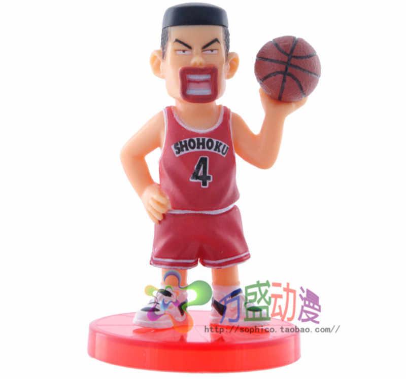 Anime Slam Dunk Shohoku jugador de baloncesto PVC figura de acción de baloncesto Hanamichi Sakuragi de 7-9cm juguete de modelos coleccionables 5 unids/lote