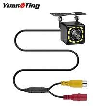 YuanTing водонепроницаемый 12 Светодиодный HD Автомобильная камера заднего вида ночного видения 170 Широкий Ангел для универсальных автомобилей