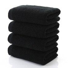 Черное Большое банное полотенце, хлопковое толстое полотенце для душа и лица, домашнее полотенце для ванной комнаты, гостиницы, для взрослы...