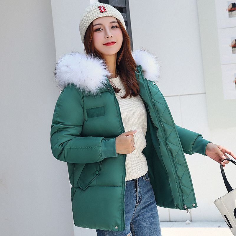 Winter Women Warm Jacket 2019 New Style Fashion Hooded Thickening Cotton Coat Casual Loose Large size Female Parkas NZYD259A image