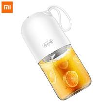 Xiaomi Deerma Dem - Nu01 300ml Portable Electric Juicer Blender Mini Capsule Shape Powerful Juice Cup For Travel Gym