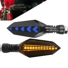 Motorcycle 12 LED Turn Signal Lights Blinker Front Rear Lights for Yamaha MT07 FZ07 mt09 fz09 MT 07 09 2014-2018 2015 2016 2017(China)