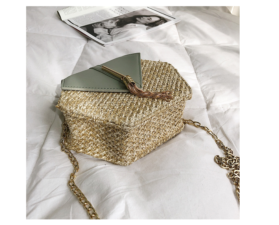 H5b9ca1a97f294a6cb634d723cfa5d90eN - Mulit Style Straw leather Handbag Women Summer Rattan Bag Handmade Woven Beach Circle Bohemia Shoulder Bag New Fashion