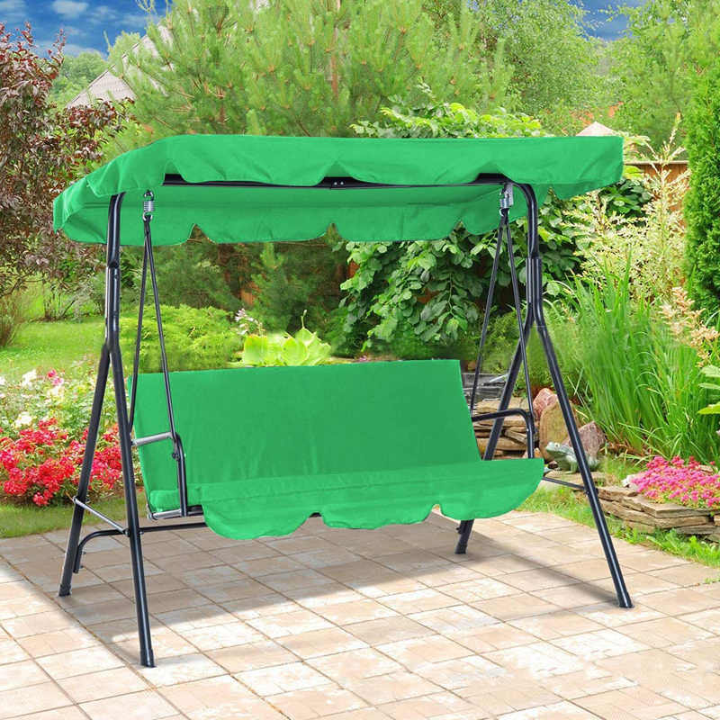 3 seat swing canopies seat cushion cover set patio swing chair hammock replacement waterproof garden s55