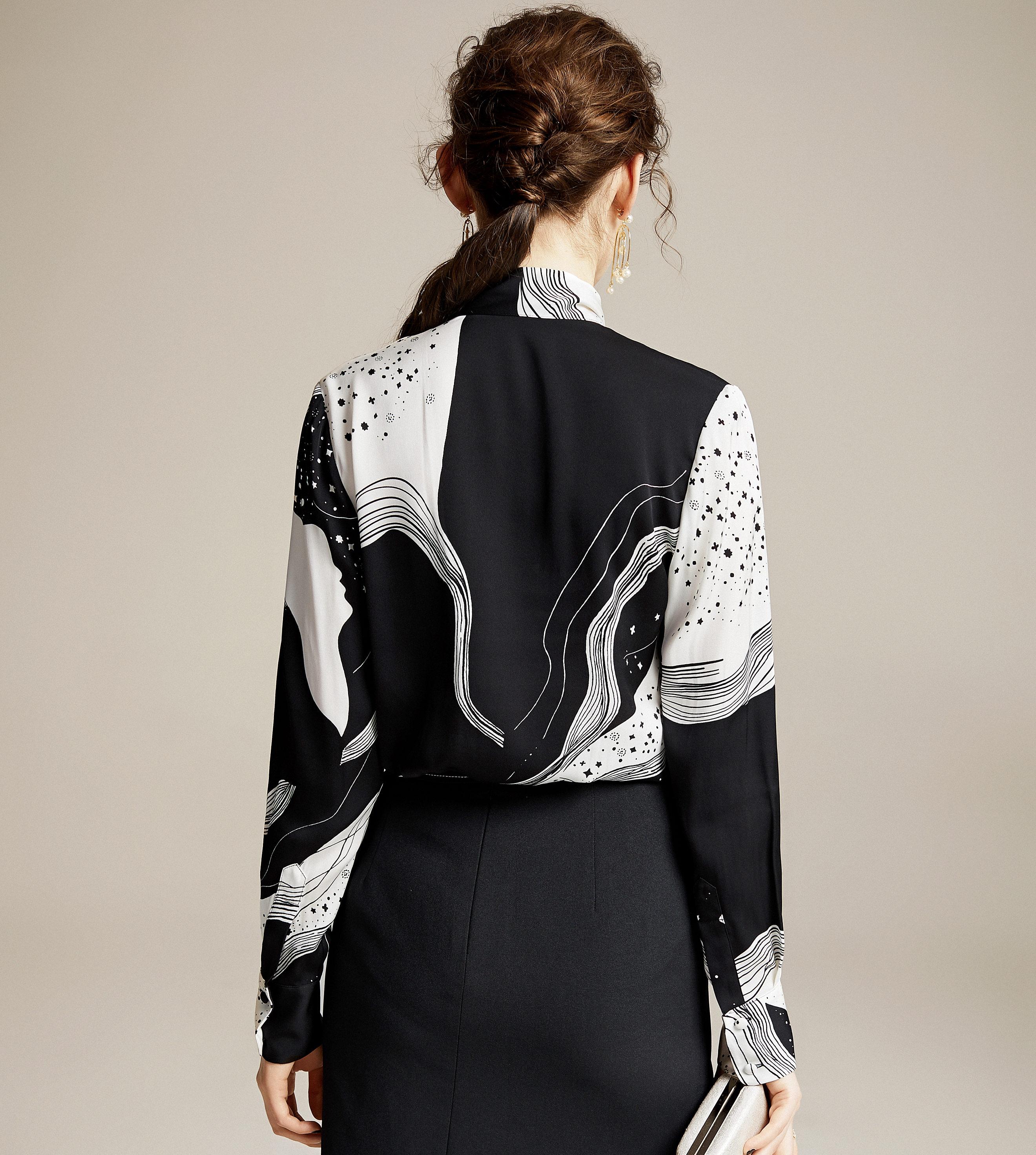 Купить высококачественная 100% шелковая блузка для женщин легкая ткань