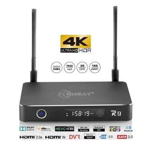 3D 4K-media-player android tv-box EWEAT R9 con HDR10 2,4/5,8G wifi BT4.0 USB3.0 HDD jugadores Realtek quad core video inteligente caja