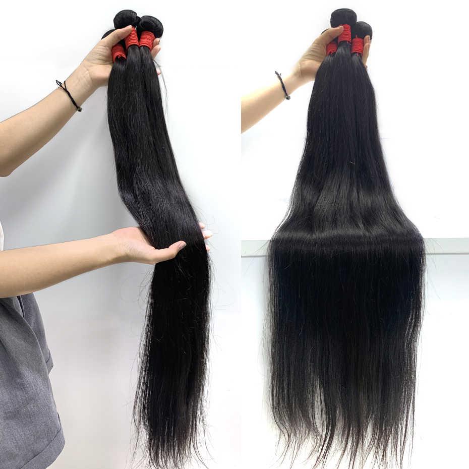 Queenlife 28 30 32 34 36 38 40 Inch Steil Haar Bundels Peruaanse Haar Bundels Remy Human Hair Weave Silky haar 1/3/4 Stuks