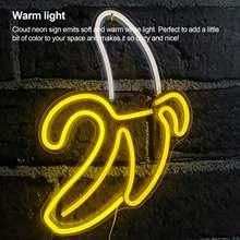 A forma da banana conduziu a luz romântica da noite de néon do diodo emissor de luz ilumina a luz da noite