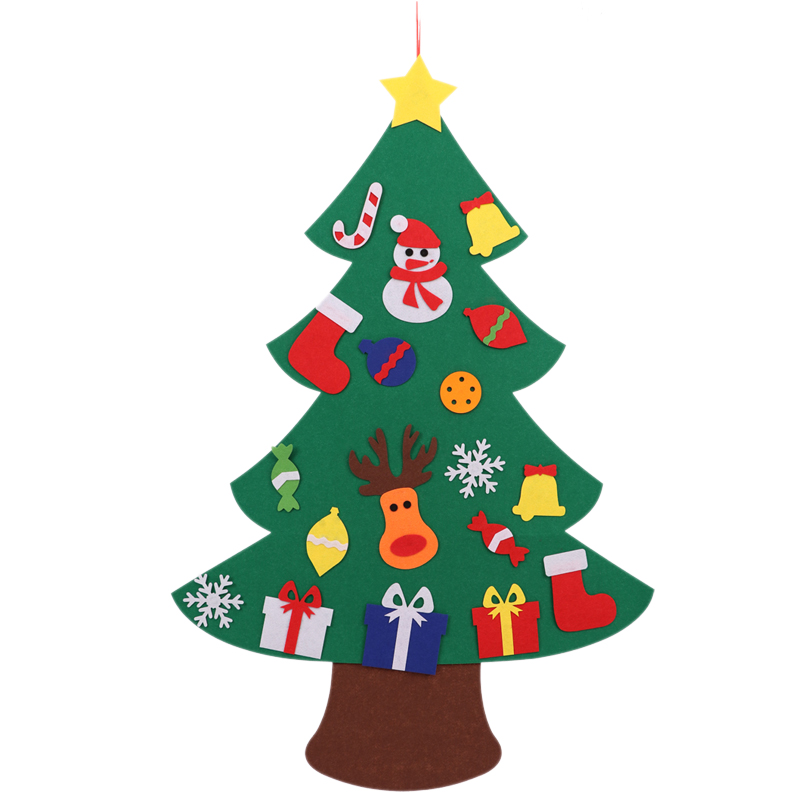 Felt Christmas Tree For Kids 3.2Ft Diy Christmas Tree With Toddlers 18Pcs Ornaments For Children Xmas Gifts Hanging Home Door Wa