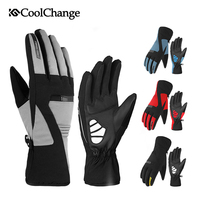 CoolChange Bicycle Winter Gloves Outdoor Waterproof Warm Thermal Thick Cycling Gloves Long Finger MTB Bike Gloves Men Women