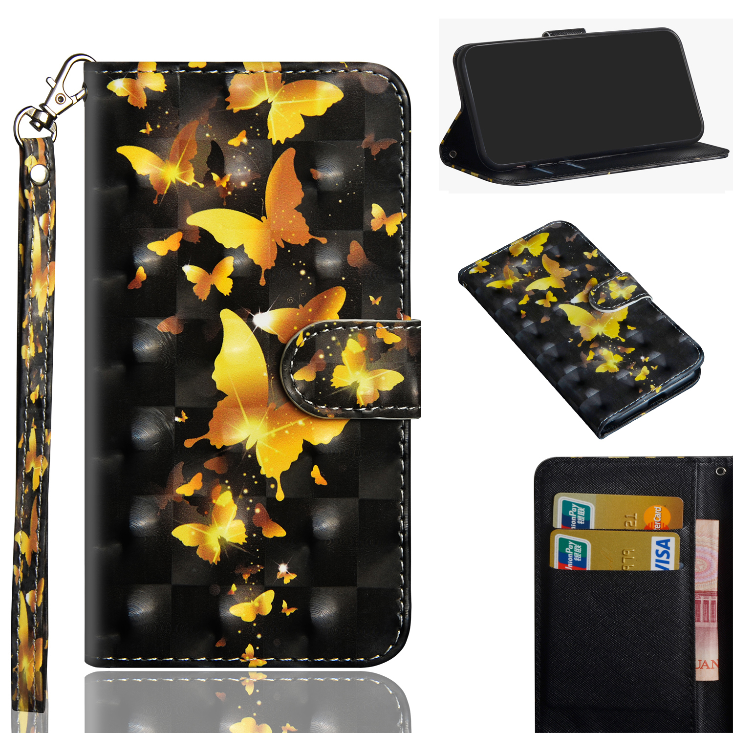 For <font><b>Oppo</b></font> <font><b>A5</b></font> <font><b>A9</b></font> <font><b>2020</b></font> <font><b>Case</b></font> Wellet Flip Phone Cover For <font><b>Oppo</b></font> <font><b>A9</b></font> Silicone Fashion Pattern Leather <font><b>Case</b></font> For <font><b>Oppo</b></font> A11x Bumper image