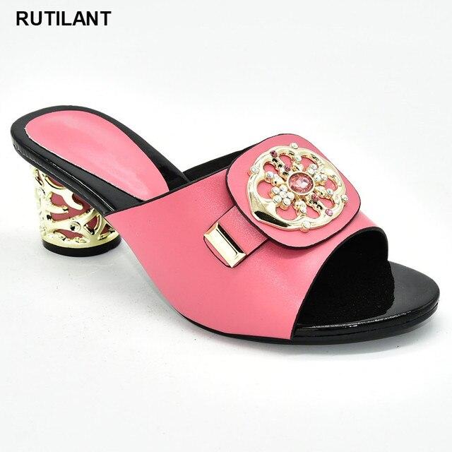 Zapatos de tacón alto para verano con plataforma para mujer, zapatos de tacón alto Sexy, italianos, de alta calidad, estilo africano, 2020