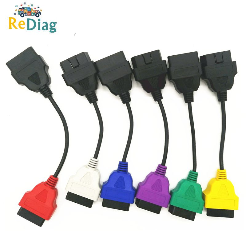 For Fiat ECU 6 4 3 pcs Cables for FIAT ECU Scan  amp  Multiecuscan Adaptor OBD2 Connector Diagnostic Adapter Cable