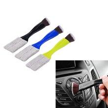 أداة تنظيف منفذ تكييف الهواء للسيارة ، فرشاة تنظيف لوحة مفاتيح السيارة ، الغبار ، الستائر ، المنزلق المزدوج