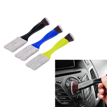 Double Slider Car Air conditioner Outlet Cleaning Tool Car styling Keyboard Dust Window Blinds Cleaner Brush