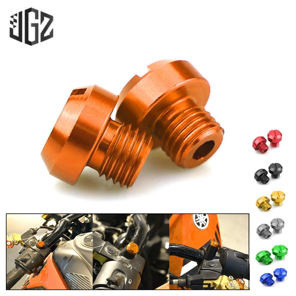 3 предмета в комплекте оранжевого цвета мотоцикл M10 * 1,25 ЗЕРКАЛА ЧПУ дыры затыкают винтов крышки с резьбой болты для переходника для KTM DUKE RC 125 ...