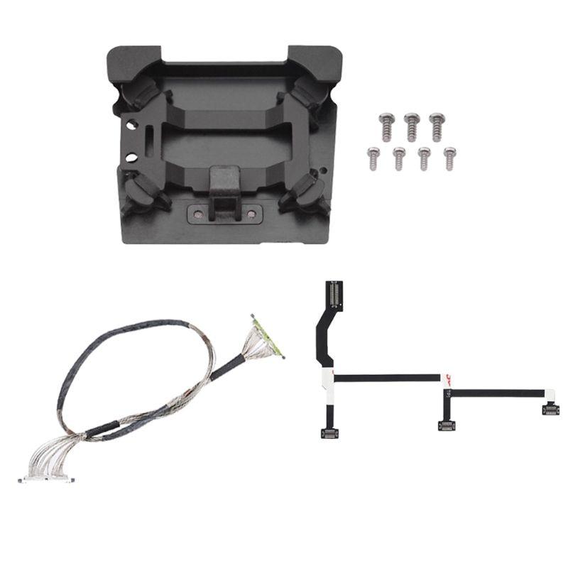 Tüketici Elektroniği'ten Drone Kabloları'de 1 takım Flex düz kablo Gimbal PTZ sinyal iletim kablosu şok geçirmez titreşim emici kurulu DJI Mavic Pro için onarım parçaları title=