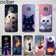 Ciciber Leuke Dier Kat Cover Voor Motorola Moto C Z2 Z3 Een P30 G4 G5 G5S G6 E3 E4 E5 play Plus Power M X4 Telefoon Case Soft Tpu(China)