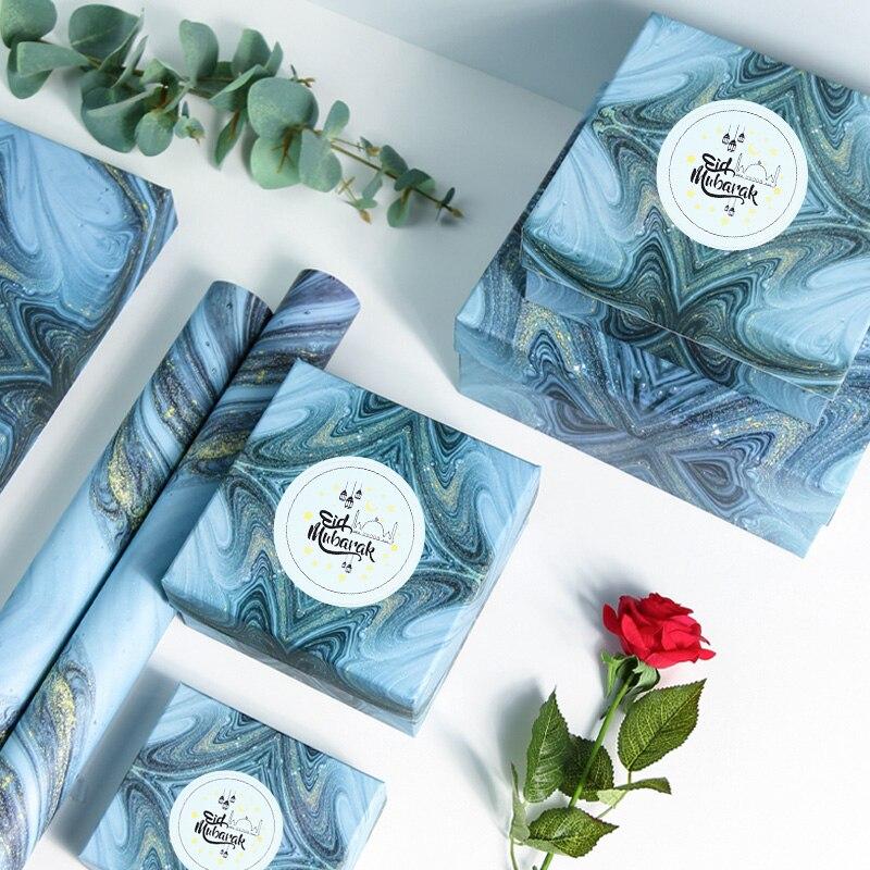 60Pcs Eid Mubarak Decoration Paper Sticker Lable Seal Gift Sticker Islamic Muslim Mubarak Decoration Eid Al Adha Supplies