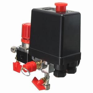 Image 5 - 240 فولت التيار المتناوب منظم الثقيلة مضخة ضاغط الهواء مفتاح التحكم بالضغط مضخة هواء صمام التحكم 0 180 Psi مع مقياس