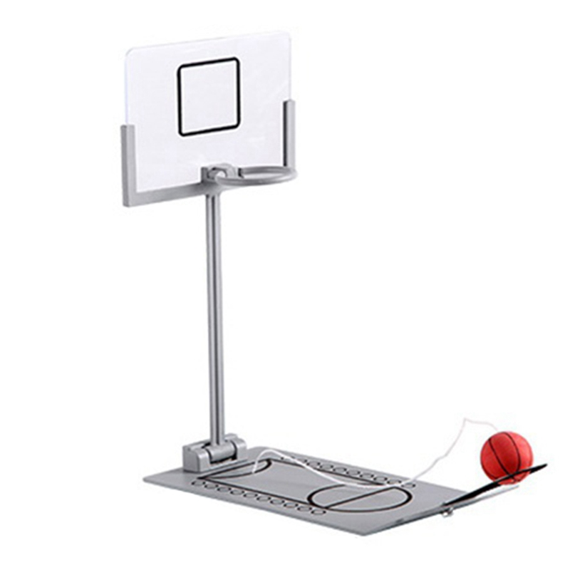Pressure Relief Toy Foldable Mini Basketball Game Desk Desktop Basketball Birthday Gift For CBA Lovers Training Toys