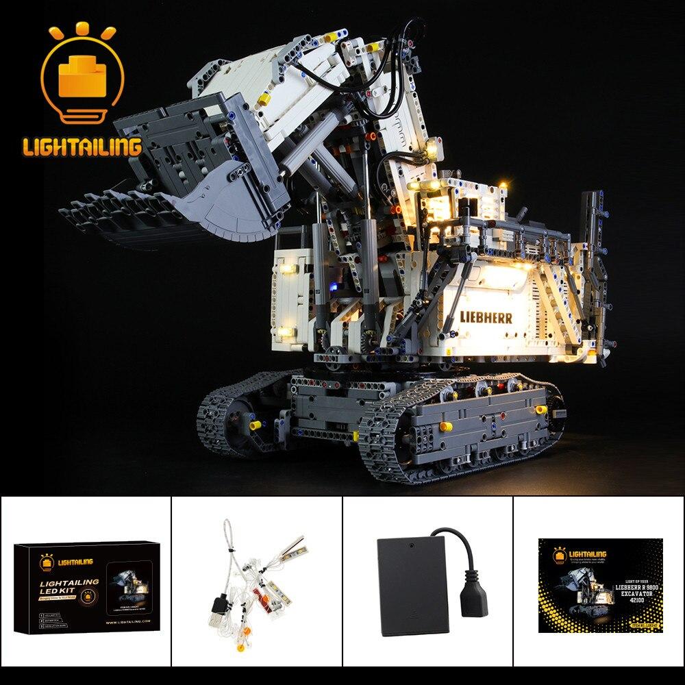 LIGHTAILING LED Light Kit For 42100 Technic Liebherr R 9800 Excavator Toy Building Blocks Lighting Set Only